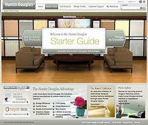Hunter Douglas screenshot for design Starter Guide