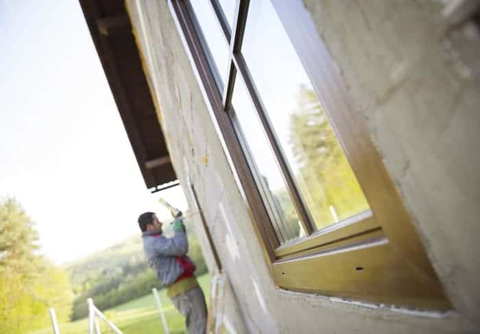 Windows and doors installer repairs and replaces window and door glass for a commercial property