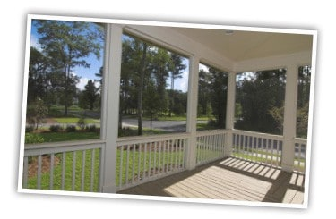 Large window screens for screened porch