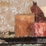 Custom glass panel in Water Glass textured glass pattern