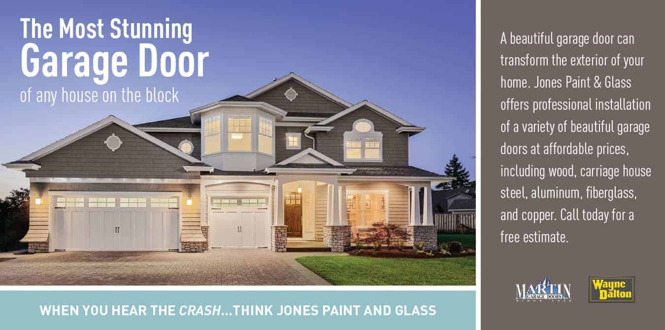 Garage doors installation promotion from Jones Paint & Glass