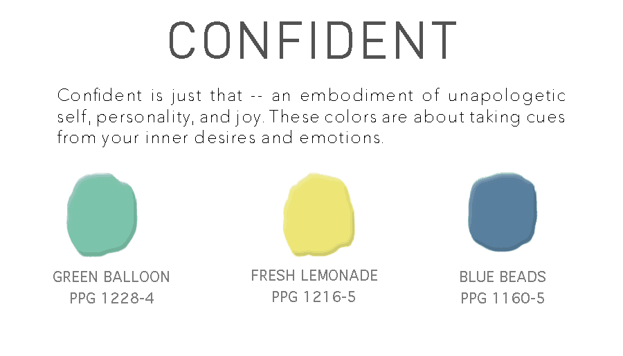 Confident Paint Color Trend