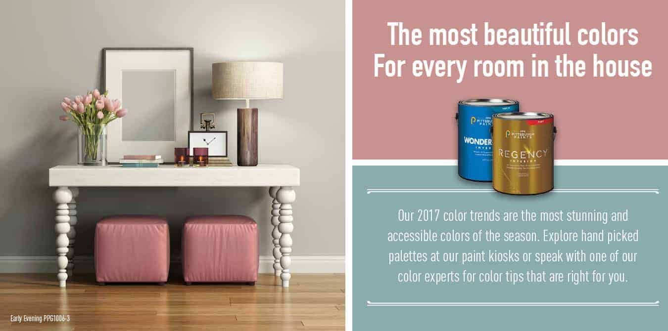 2017 interior paint colors promotion from Jones Paint & Glass