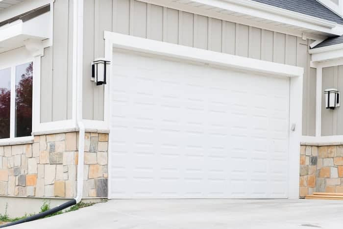 Newly installed custom garage door in Provo, UT home