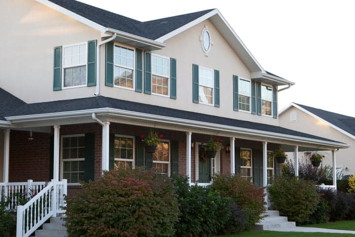 Two-story home with new upgraded energy-efficient windows