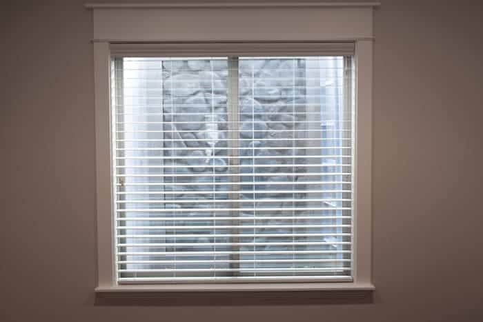Basement house window and window blinds treatment