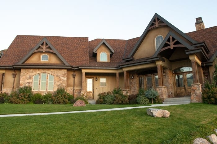Utah home with several different shaped windows and doors, installed by Jones Paint & Glass