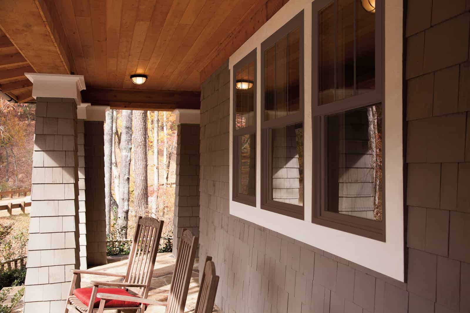 Fiberglass and composite windows on Utah mountain home