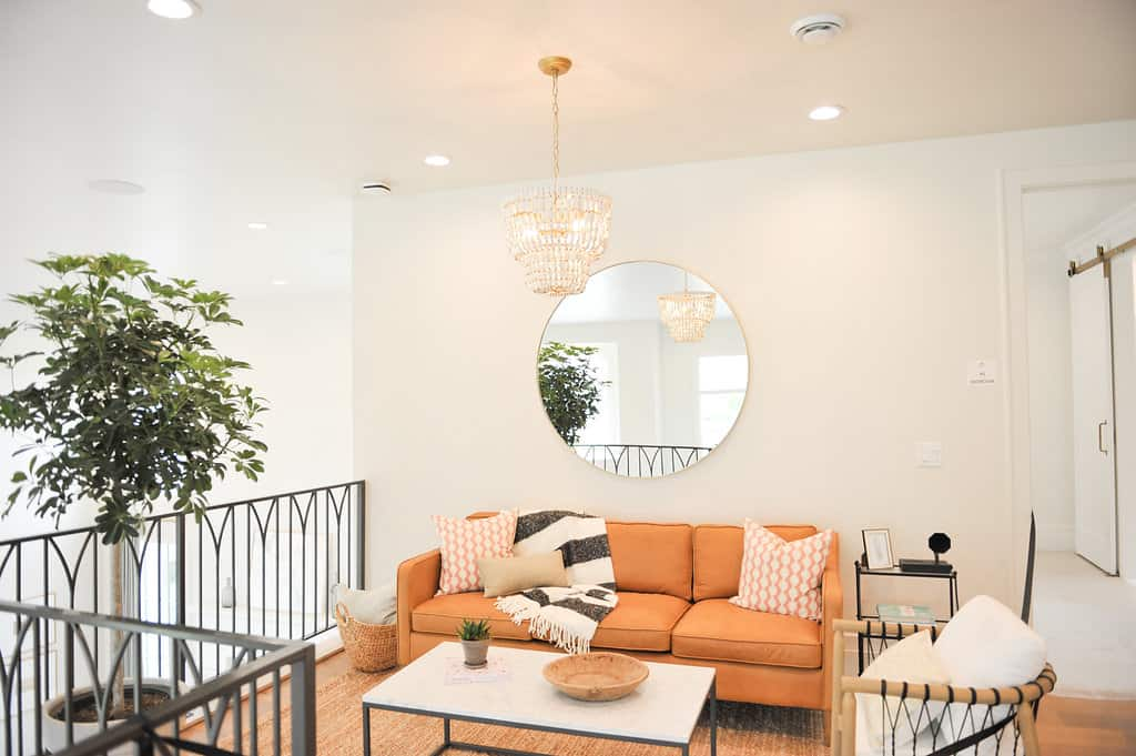 Interior paint products used to update Utah home sitting area