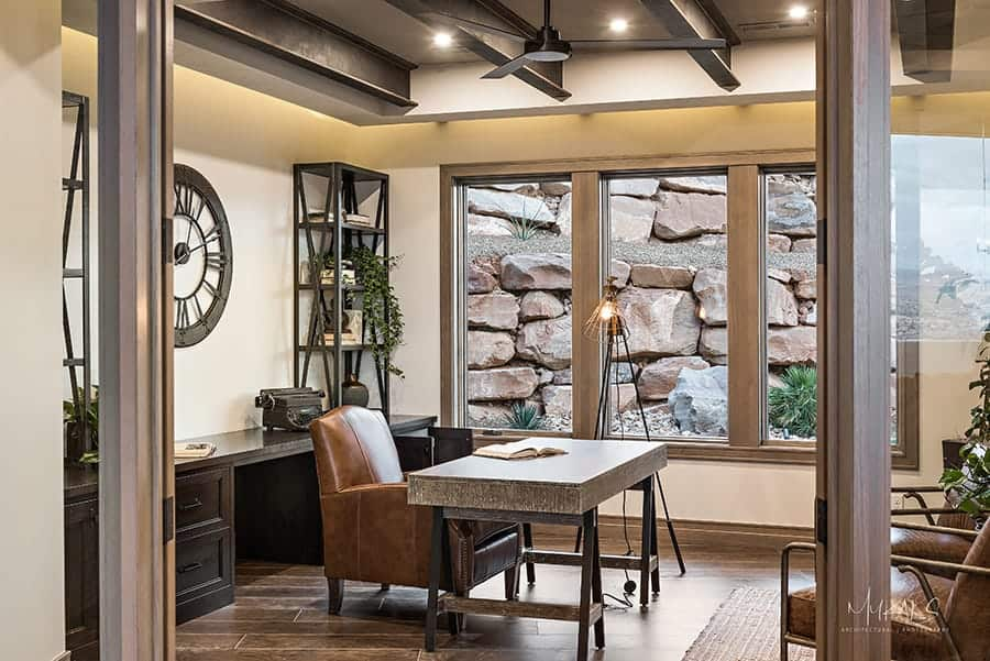Paint store in Utah supplies residential home office with neutral paint for its walls