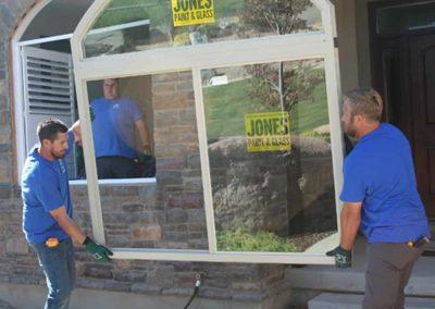Jones Paint & Glass Replacement Window Experts Installing New Window