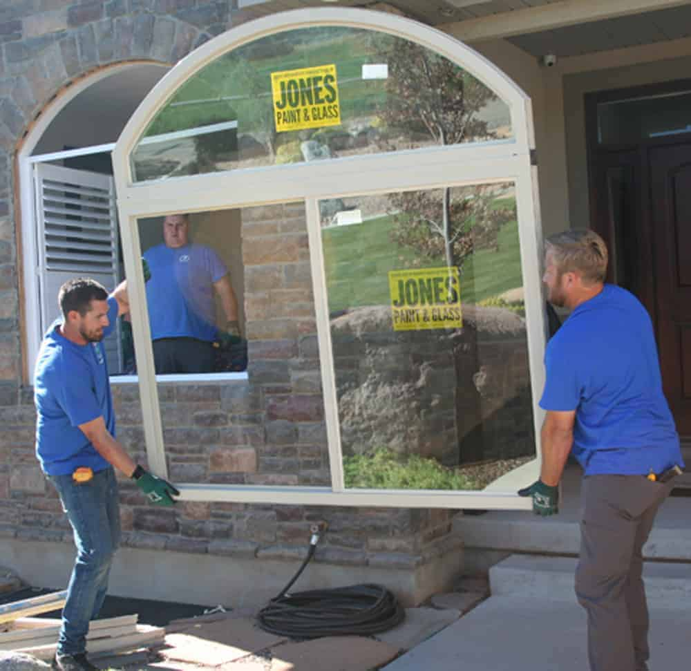 Jones Paint & Glass Replacement Window Experts Installing New Window