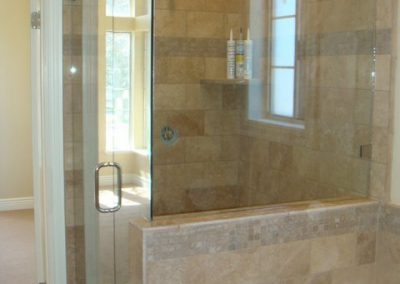 euro glass shower door and welded glass enclosure in provo home